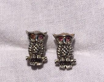 Tiny Owl Stud Earrings