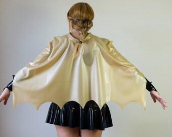 Batgirl Latex Cape Superhero Halloween Costume