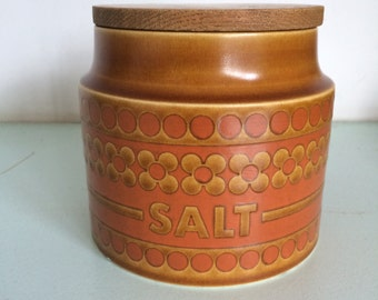 """Vintage Hornsea """"Saffran"""" salt storage jar."""