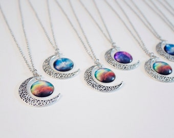 Galaxy Moon Nebula Necklaces!