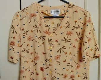 Yellow flowers blouse