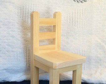 """One 18"""" Doll Chair - Unpainted"""