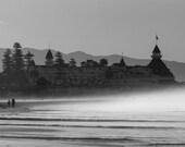 Misty Morning Hotel Del - Coronado, CA - 8x12 12x18 16x24 24x36 Lustre Print - Landscape Photography - Modern Art Wall Art - Nature