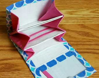 Polka Dot Deluxe Mini Accordion Duct Tape Wallet