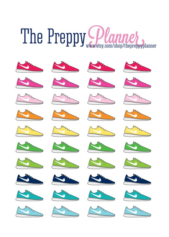 Running Shoe Planner Stickers for Filofax Kikki Erin Condren