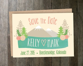 Mountain Floral Save the Date