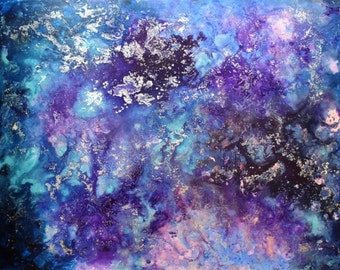 Purple Galaxy Painting