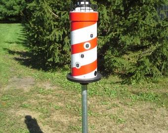 Solar Lighthouse Bird Feeder