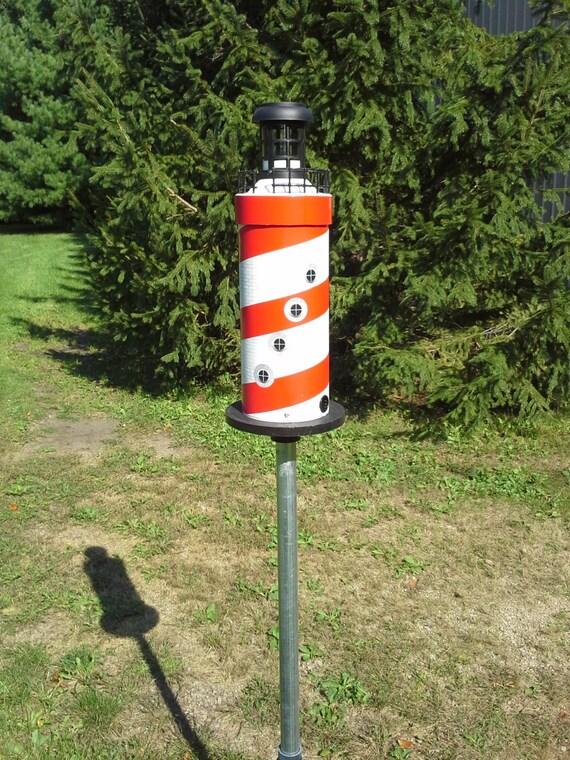 how to build a solar lighthouse and bird feeder