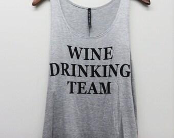 Wine Drinking Team Womens Tank top