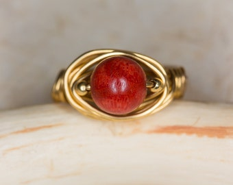Coral ring gold