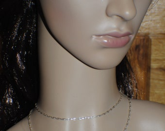 27 inch sterling silver chain, spring clasp, handmade sterling silver chain