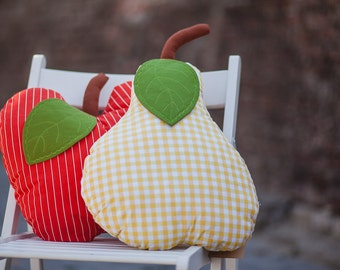 Fruits pillows set - kids pillow - funny pillow - apple pillow - pear pillow