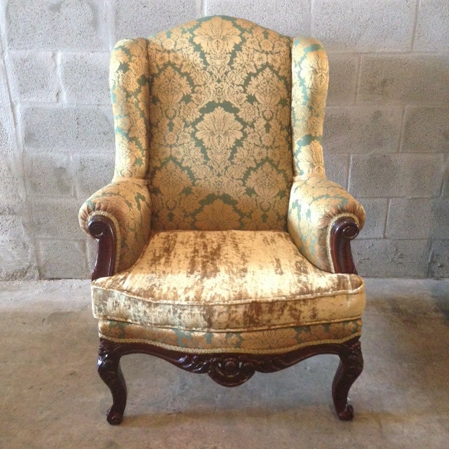 antique victorian 19th century chair fauteuil bergere wingback. Black Bedroom Furniture Sets. Home Design Ideas