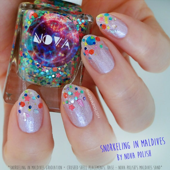 Painting Seashells With Nail Polish: NOVA Polish's Crushed Seashells For Nail Art & Crafts