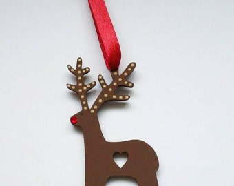 Christmas decorations, reindeer decoration, hanging decoration, rudolf bauble, rudolph.