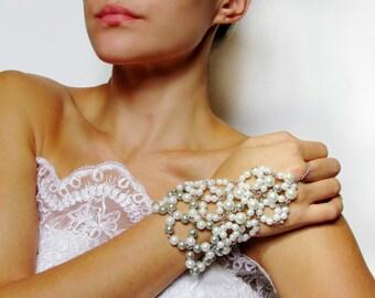 Wedding Bracelet, Bracelet Slave, Pearl Bracelet, Bridal Bracelet