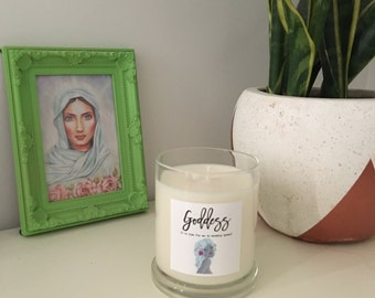Pure Soy Candle Reiki Charged Goddess Intention for Ritual