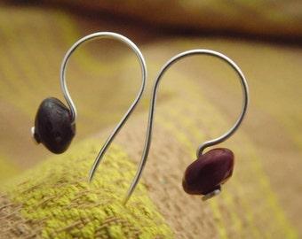 Earrings, Jasper, sterling silver, 5% donation