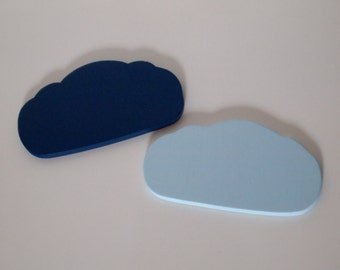 Set of Two Wooden Cloud Coasters