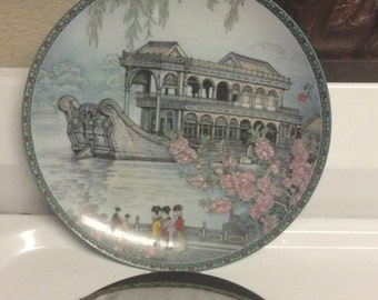 Beautiful plate,flower decoration,vintage plate, oriental plate, asian plate, decorative plate,