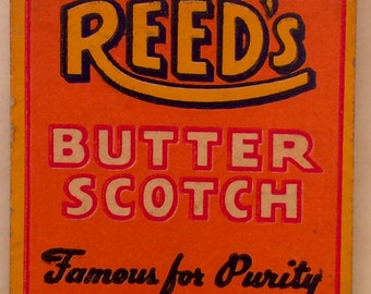 1940s Reed's Butterscotch Roll 20 strike front strike Matchbook Complete with all 20 Matches Inside