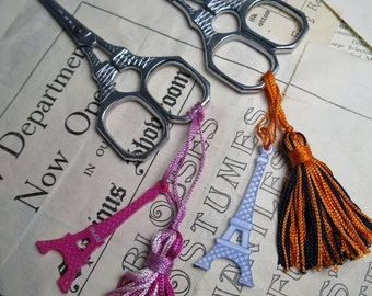 Sajou Eiffel Tower Hand Paired Chromed Embroidery Scissors