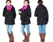 Babywearing jacket Baby carrier hoodie Kangaroo coat/jacket for Mom and Baby, baby wearing hoodie size BLACK NP12