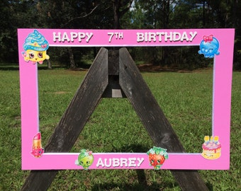 Shopkins inspired photo prop frame