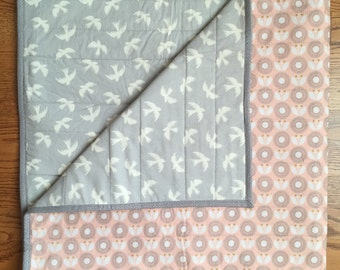 Modern baby quilt-Modern toddler quilt-Homemade baby quilt-Homemade toddler quilt