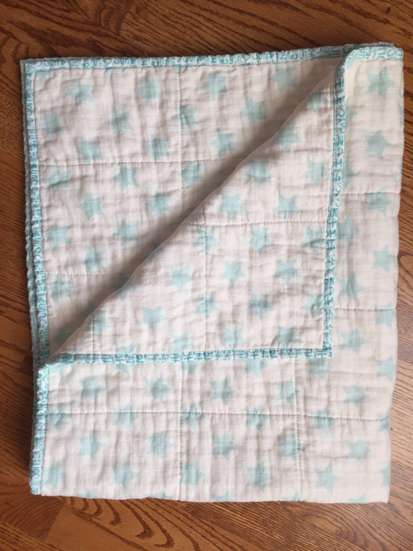 Gauze Quilt Gauze Baby Blanket Gender Neutral Baby