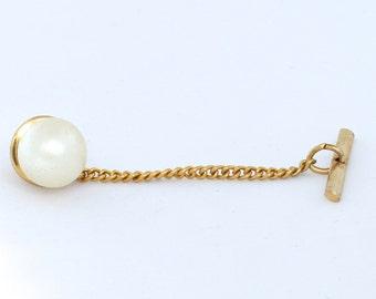 Perle & Gold Tie Tack