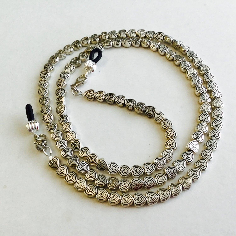 silver beaded eyeglass chain sunglass chain eyeglass
