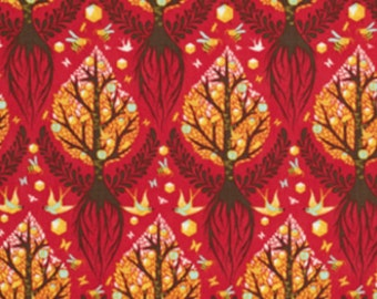 Tula Pink - Tree of Life Fabric - Cinnamon - Sold by the 1/2 Yard