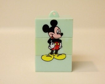 Vintage Mickey Mouse Puzzle Keychain/ Different Mickey Mouse Outfits/ Disney