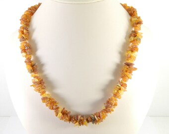 Medical Raw Baltic Amber stone beads (21 inch)