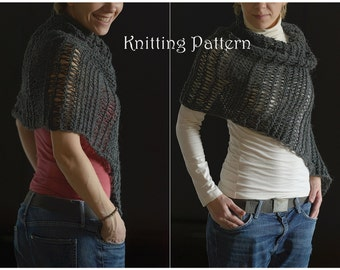 116 Knitting pattern shawl PDF / knitted cowl / knitting shawl / instant download / knitting patterns for women