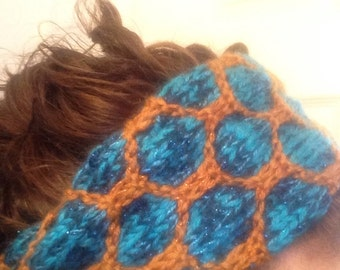 Jasmine inspired ear warmer