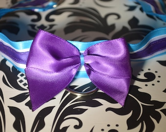 Purple and Blue Collar & Cuffs set for BDSM/PETPLAY