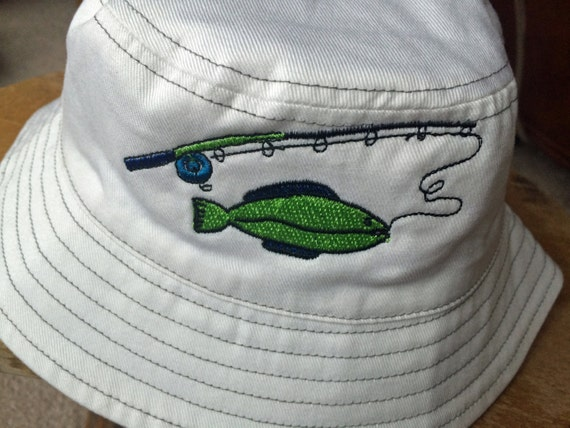 Baby boy fishing hat boy 39 s bucket hat with fish for Baby fishing hat
