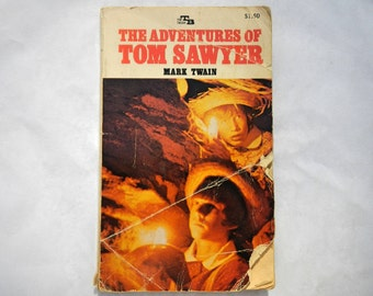 The Adventures of Tom Sawyer by Mark Twain Vintage Paperback Book