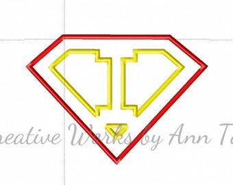 I Am Super Letter I Alphabet Applique