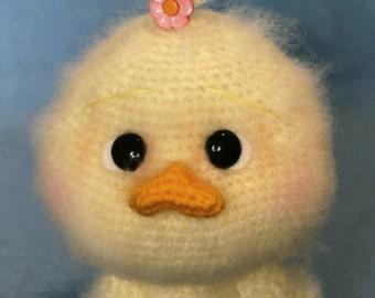 Elfin Thread- Fuzzy Duck Amigurumi PFD Pattern (Fuzzy Crochet Duck)