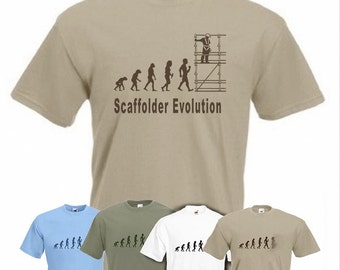 Evolution To Scaffolding t-shirt Funny Scaffolder T-shirt sizes Sm To XXL