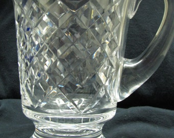 "Waterford Crystal Alana Pitcher 6"" tall vintage signed"