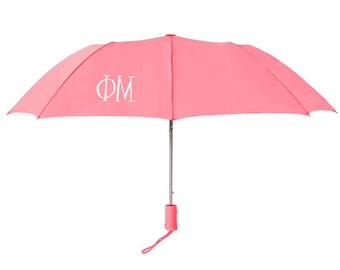 Phi Mu Lettered Umbrella