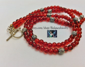 FireBrick Red Necklace N#75
