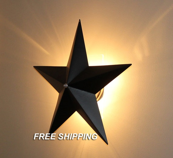 Star Wall Light Bhs : Barn Star Wall Sconce Light Fixture Country Primitive Wall
