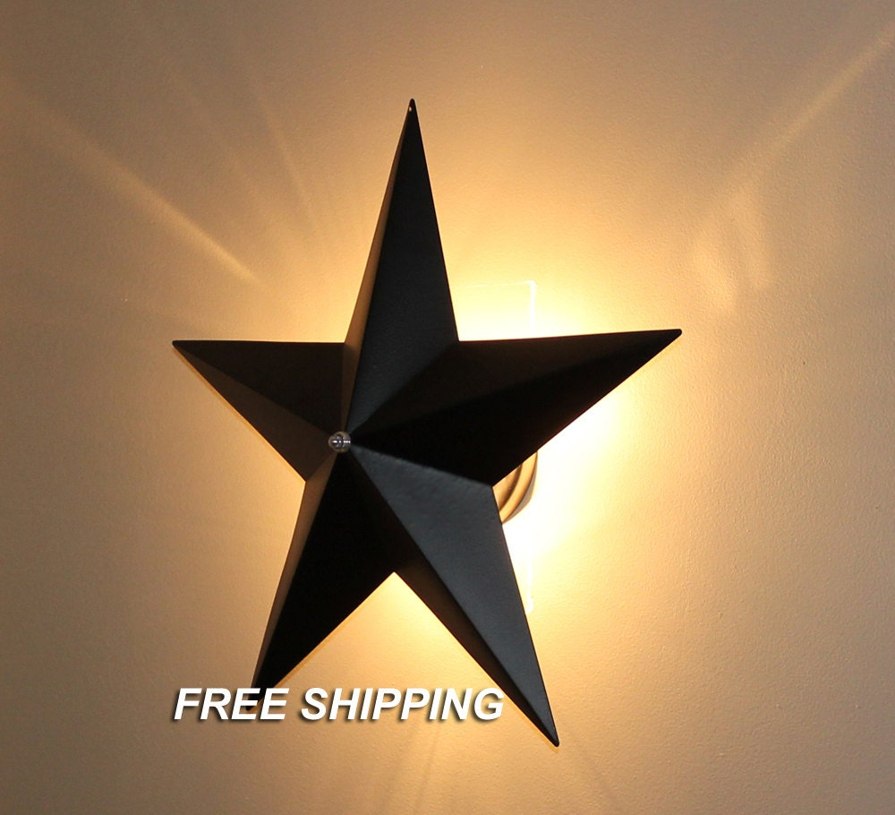 Barn Star Wall Sconce Light Fixture Country Primitive Wall