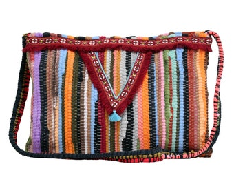 Kourelou bag in boho style with fringes in large size